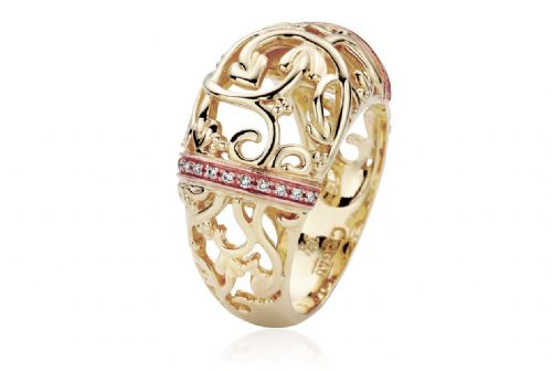 CLOGAU GOLD Am Byth 9ct Yellow Gold & Diamond Ring Size J FR01
